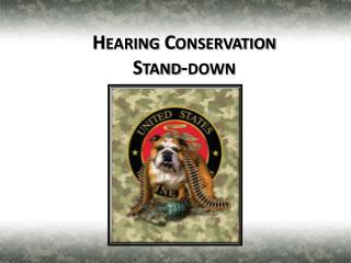 Hearing Conservation  Stand-down