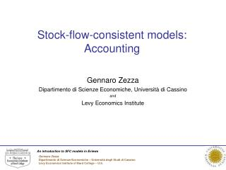 Stock-flow-consistent models: Accounting