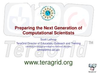 Preparing the Next Generation of Computational Scientists