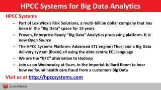 HPCC Systems for Big Data Analytics