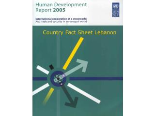 Country Fact Sheet Lebanon