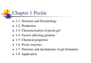 Chapter 1 Pectin
