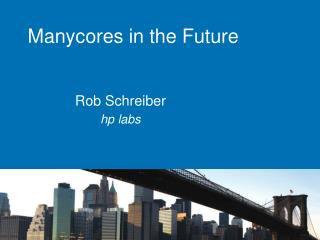 Manycores in the Future