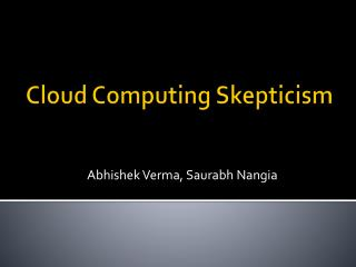 Cloud Computing Skepticism