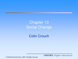 Chapter 13 Social Change