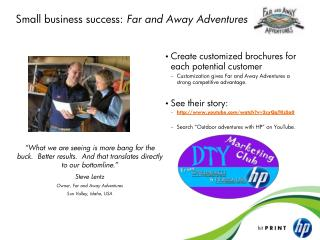 Small business success:  Far and Away Adventures