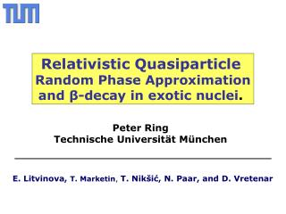 Relativistic Quasiparticle Random Phase Approximation and  β -decay in exotic nuclei .