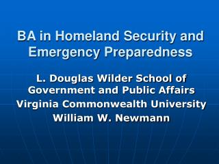 BA in Homeland Security and Emergency Preparedness