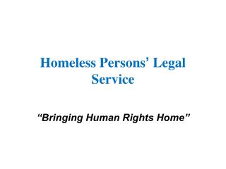 Homeless Persons '  Legal Service