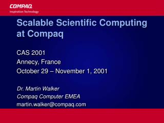 Scalable Scientific Computing at Compaq