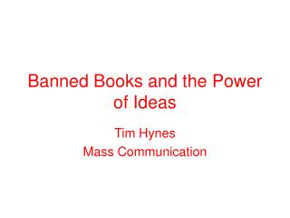 Banned Books and the Power of Ideas