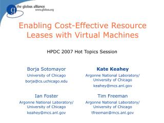 Enabling Cost-Effective Resource Leases with Virtual Machines