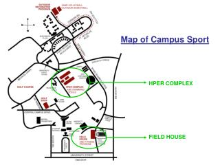 Map of Campus Sport