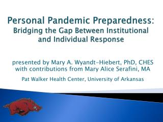 Personal Pandemic Preparedness:  Bridging the Gap Between Institutional and Individual Response