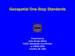 Geospatial One-Stop Standards
