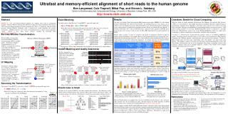Ultrafast and memory-efficient alignment of short reads to the human genome   Ben Langmead, Cole Trapnell, Mihai Pop, an