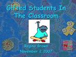 Gifted Students In The Classroom