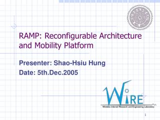 RAMP: Reconfigurable Architecture and Mobility Platform