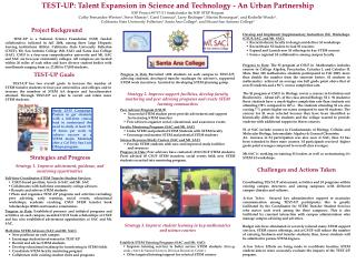TEST-UP: Talent Expansion in Science and Technology - An Urban Partnership
