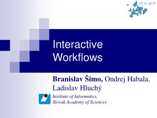 Interactive Workflows