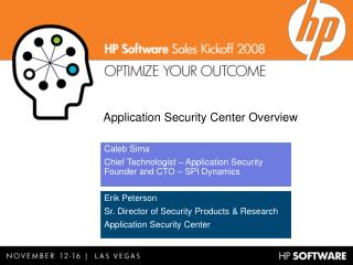 Application Security Center Overview