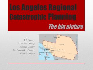 Los  Angeles Regional  Catastrophic  Planning