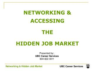 NETWORKING & ACCESSING  THE  HIDDEN JOB MARKET