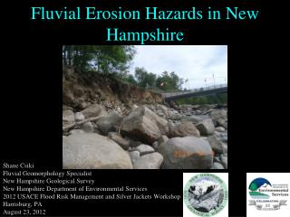Fluvial Erosion Hazards in New Hampshire