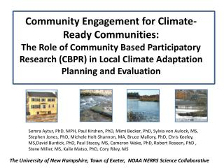 The University of New Hampshire, Town of Exeter,  NOAA NERRS Science Collaborative