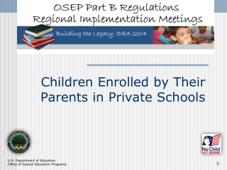 Children Enrolled by Their Parents in Private Schools
