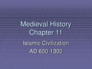Medieval History Chapter 11
