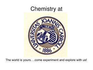 Chemistry at