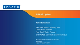 International Public Sector Accounting Standards Board IPSASB  Current Developments