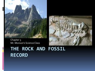 The Rock and Fossil  record
