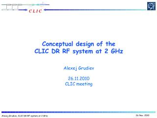 Conceptual design of the CLIC  DR RF  system at 2 GHz