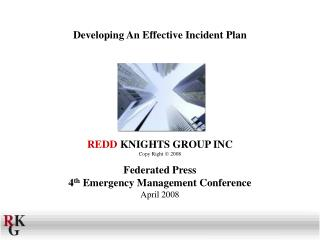 Developing An Effective Incident Plan