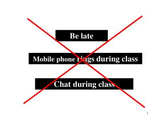Mobile phone  rings during class
