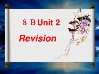 8B Unit 2 Revision