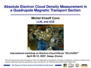 Absolute Electron Cloud Density Measurement in a Quadrupole Magnetic Transport Section