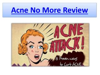 Acne No More Review - Your Best Relief From Acne Today