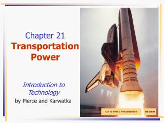 Chapter 21 Transportation Power