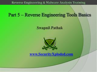 Part 5 – Reverse Engineering Tools Basics