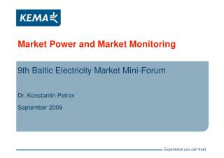 Market Power and Market Monitoring