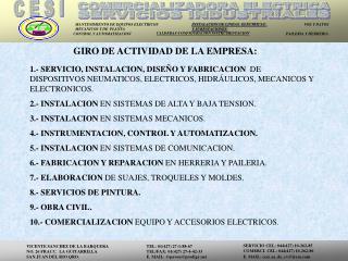 GIRO DE ACTIVIDAD DE LA EMPRESA: