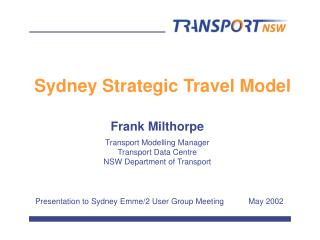 Sydney Strategic Travel Model