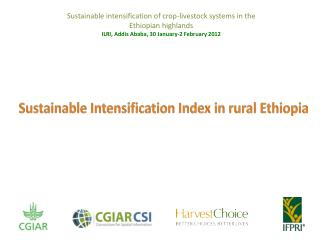 Sustainable intensification of crop-livestock systems in the Ethiopian highlands