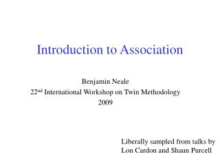 Introduction to Association