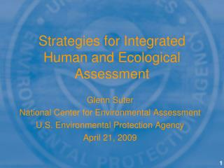 Strategies for Integrated Human and Ecological Assessment