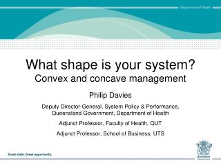 What shape is your system? Convex and concave management