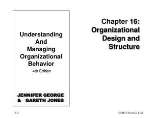Chapter  16: Organizational Design and Structure